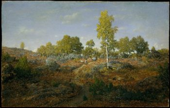 A Path among the Rocks (prob 1861) | Theodore Rousseau | oil painting