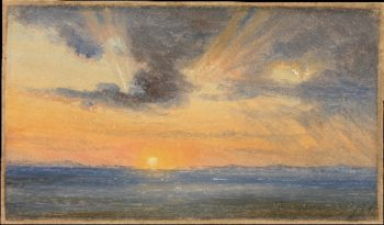 Sunset Sorrento (1834) | Thomas Fearnley | oil painting