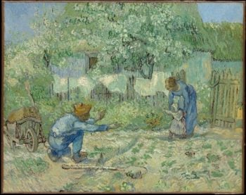 First Steps after Millet (1890) | Vincent van Gogh | oil painting