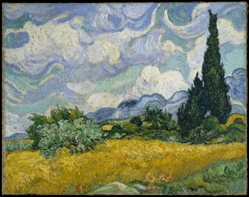Wheat Field with Cypresses (1889) | Vincent van Gogh | oil painting