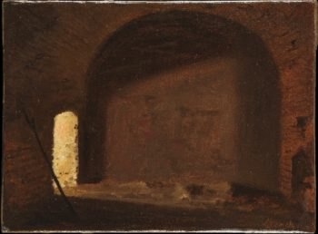 Study of Light in a Vaulted Interior | Wilhelm Bendz | oil painting