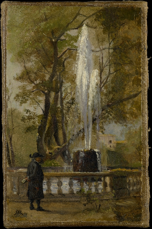 A Fountain in Rome | Wilhelm Marstrand | oil painting