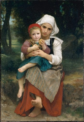Breton Brother and Sister (1871) | William Bouguereau | oil painting