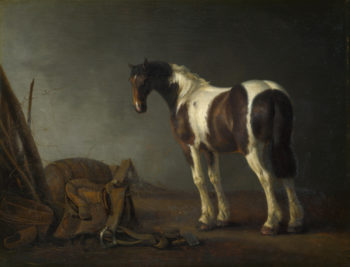 A Horse with a Saddle Beside it | Abraham van Calraet | oil painting