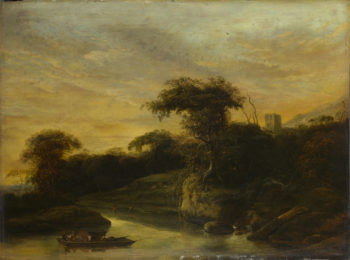 A Landscape with a River at the Foot of a Hill | Jacob de Wet the Elder | oil painting