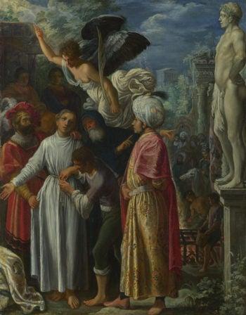 Saint Lawrence prepared for Martyrdom | Adam Elsheimer | oil painting