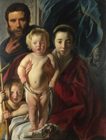 The Holy Family and Saint John the Baptist | Jacob Jordaens | oil painting