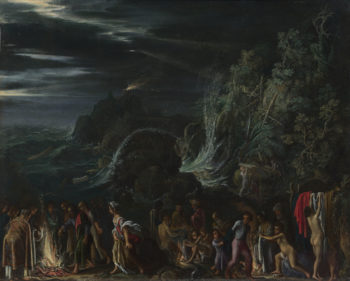 Saint Paul on Malta | Adam Elsheimer | oil painting