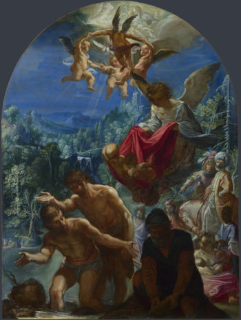 The Baptism of Christ | Adam Elsheimer | oil painting