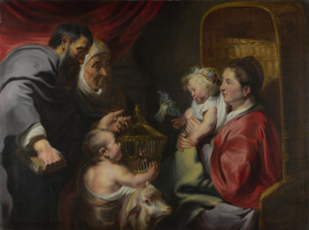 The Virgin and Child with Saint John and his Parents | Jacob Jordaens | oil painting