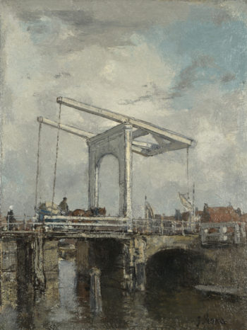 A Drawbridge in a Dutch Town | Jacob Maris | oil painting