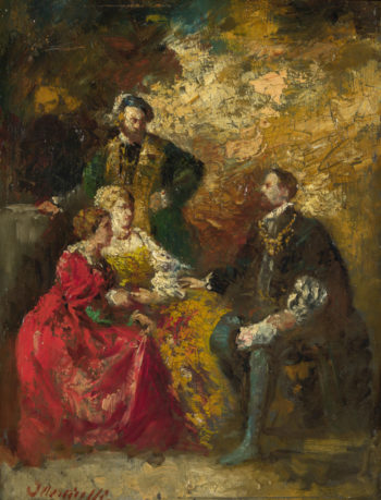 Conversation Piece | Adolphe Monticelli | oil painting