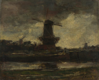 Three Windmills | Jacob Maris | oil painting