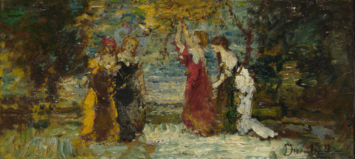 Subject Composition (1) | Adolphe Monticelli | oil painting