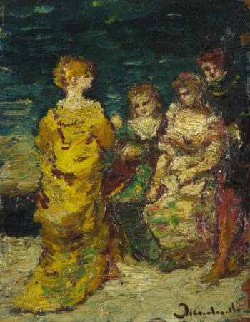 Subject Composition | Adolphe Monticelli | oil painting