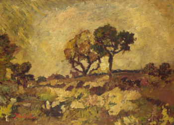 Sunset | Adolphe Monticelli | oil painting