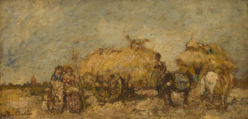 The Hayfield | Adolphe Monticelli | oil painting