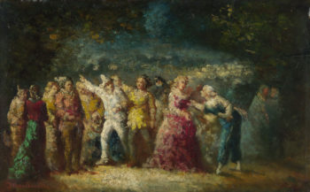 Torchlight Procession | Adolphe Monticelli | oil painting