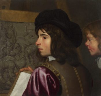 Two Boys before an Easel | Jacob van Oost the Elder | oil painting
