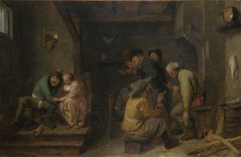 Tavern Scene   Adriaen Brouwer   oil painting