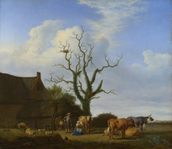 A Farm with a Dead Tree | Adriaen van de Velde | oil painting