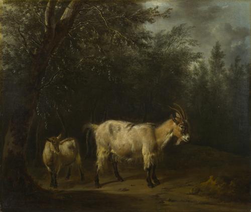 A Goat and a Kid   Adriaen van de Velde   oil painting