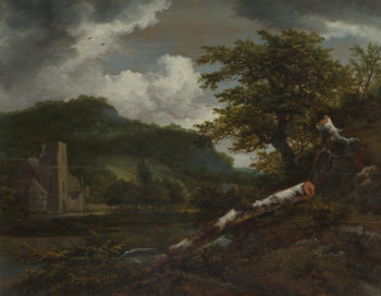 A Landscape with a Ruined Building | Jacob van Ruisdael | oil painting