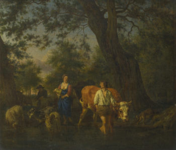 Peasants with Cattle fording a Stream | Adriaen van de Velde | oil painting