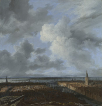 A Panoramic View of Amsterdam looking towards the IJ | Jacob van Ruisdael | oil painting