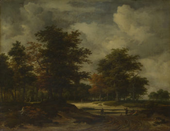 A Road leading into a Wood | Jacob van Ruisdael | oil painting