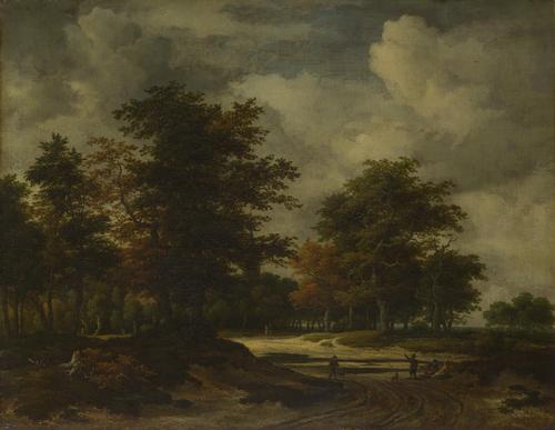A Road leading into a Wood | Jacob van Ruisdael | oil painting