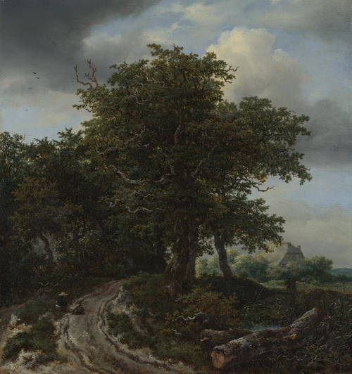 A Road winding between Trees towards a Distant Cottage | Jacob van Ruisdael | oil painting