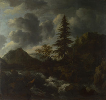 A Torrent in a Mountainous Landscape | Jacob van Ruisdael | oil painting