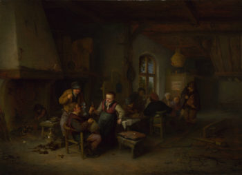 The Interior of an Inn | Adriaen van Ostade | oil painting