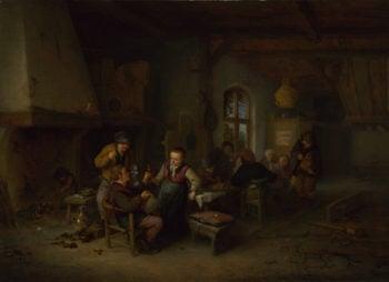 The Interior of an Inn | Adriaen van Ostade | oil painting