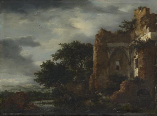Ruins in a Dune Landscape   Jacob van Ruisdael   oil painting