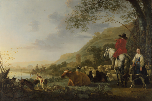 A Hilly Landscape with Figures | Aelbert Cuyp | oil painting