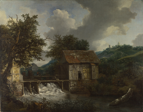 Two Watermills and an Open Sluice at Singraven | Jacob van Ruisdael | oil painting