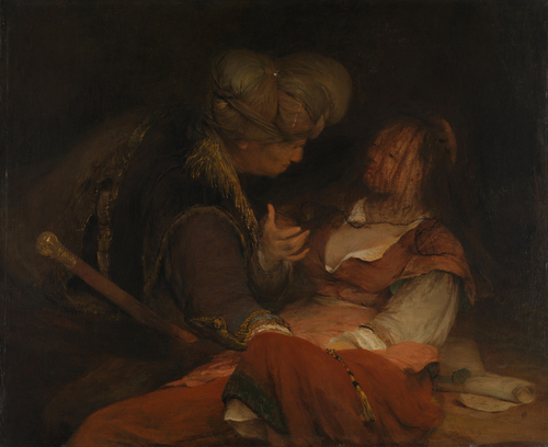Judah and Tamar   Aert de Gelder   oil painting