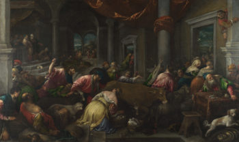 The Purification of the Temple   Jacopo Bassano and workshop   oil painting