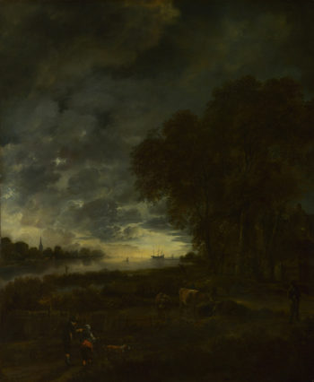 A Landscape with a River at Evening | Aert van der Neer | oil painting
