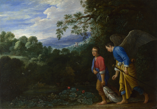 Tobias and the Archangel Raphael | After Adam Elsheimer | oil painting