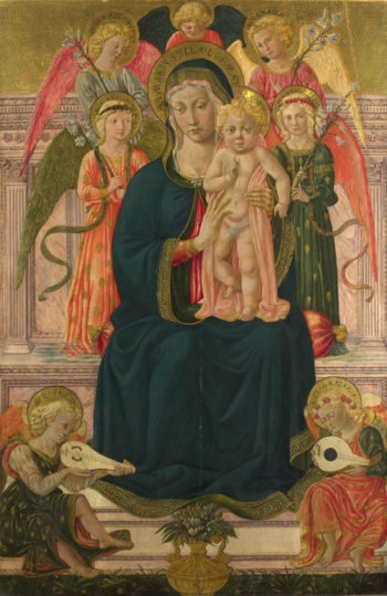 The Virgin and Child Enthroned with Angels | After Benozzo Gozzoli | oil painting