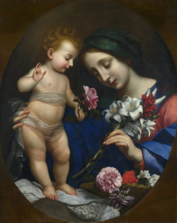 The Virgin and Child with Flowers | After Carlo Dolci | oil painting