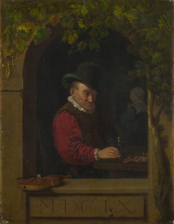An Old Fiddler | After Frans van Mieris the Elder | oil painting