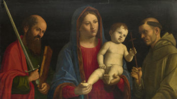 The Virgin and Child with Saint Paul and Saint Francis | After Giovanni Battista Cima da Conegliano | oil painting