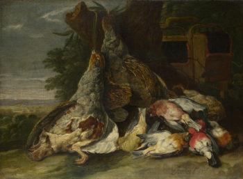 Dead Birds in a Landscape   Jan Fyt   oil painting
