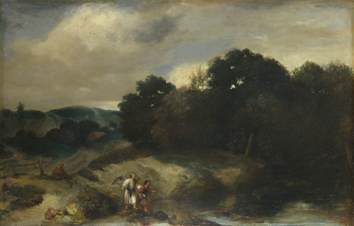 A Landscape with Tobias and the Angel | Jan Lievens | oil painting