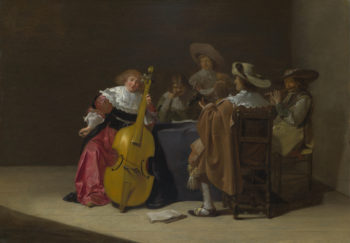 A Musical Party   Jan Olis   oil painting