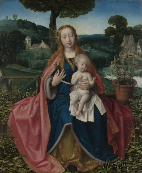 The Virgin and Child in a Landscape | Jan Provoost | oil painting